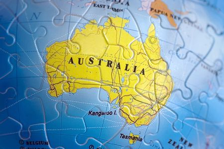 Australia map puzzle photo