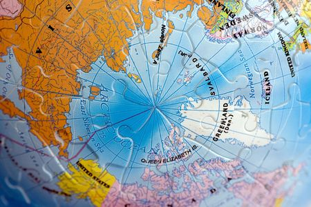 Close Up on North Pole photo