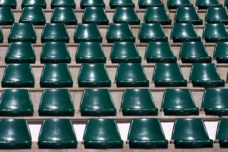 reserved seat: empty stadium seat..