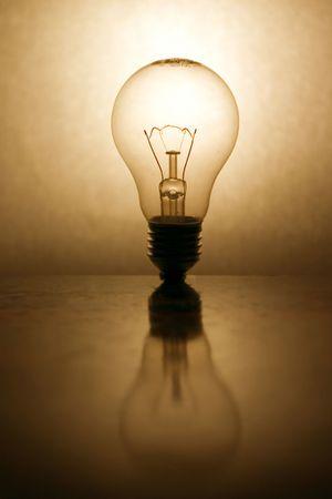 lightbulb with reflection Stock Photo - 240474