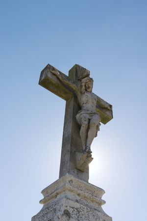 Statue of Jesus agaisnt blue sky Stock Photo - 240226