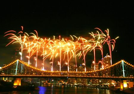 Fireworks with copyspace at the top.. Stock Photo - 240213