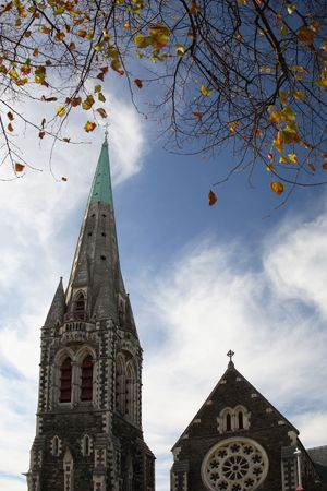 righteous: Cathedral at Christchurch, new zealand Stock Photo