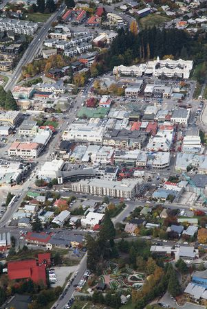 City-view from the top at Queenstown, new zealand. photo