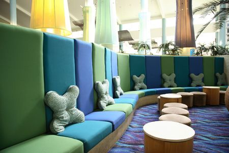 whitsunday: Interior of an anonymous hotel lobby in Whitsunday, australia