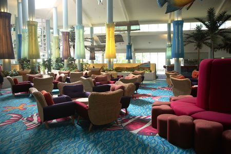 whitsunday: Interior of an anonymous hotel lobby in Whitsunday
