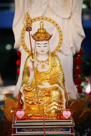 high priest: Budha statue as high priest captured during festival in brisbane