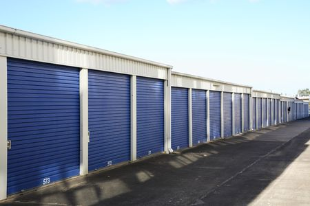 Storage room with blue sky shot during the day