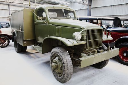 Vintage military truck photo
