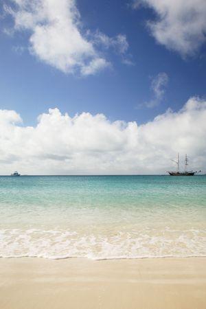 whitehaven: Landscape of Whitehaven beach, Whitsunday Island, Australia Stock Photo