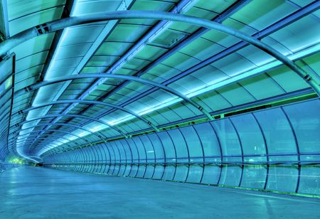 Futuristic tunnel photo