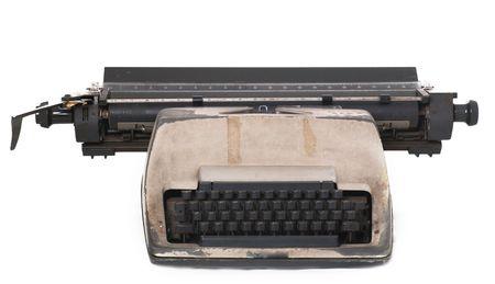 Isolated vintage typewritter over white background Stock Photo - 3407828