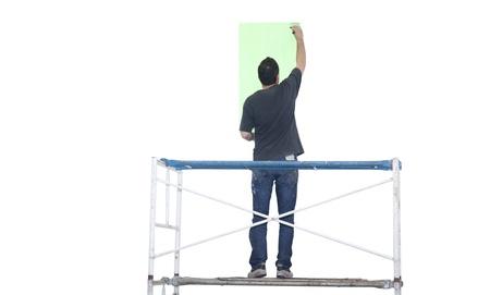 isoalated: Artist painting isoalated on white