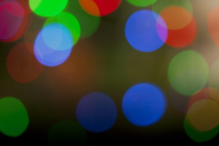Defocused christmas lights shot in studio photo