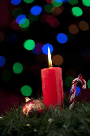 Christmas decorations with defocused lights Stock Photo - 11533377