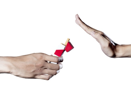 A hand refuse an offer to smoking Stock Photo - 12150301