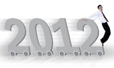 New business concept of the year 2012 photo