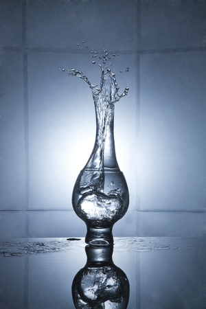 Water splash into water Stock Photo - 12237441