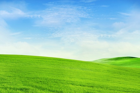 Peaceful landscape background shot in spring photo