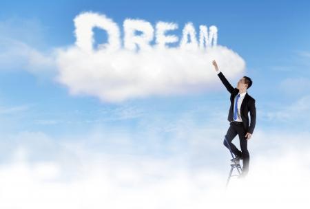 sogno: Imprenditore sale scala e ottenere il suo sogno Archivio Fotografico