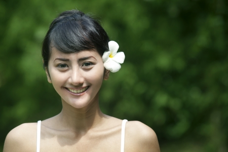 adult indonesia: Pretty Asian woman with beautiful teeth smiling