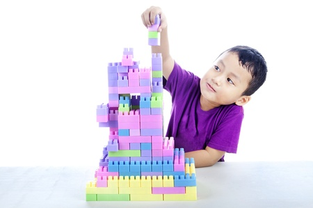 A children building blocks toy. Can be used for building blocks of a nation concept. photo