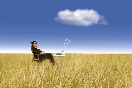 Cloud computing concept: Works anywhere photo