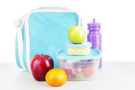 lunch break: Shot of a packed lunch for child shot in studio Stock Photo