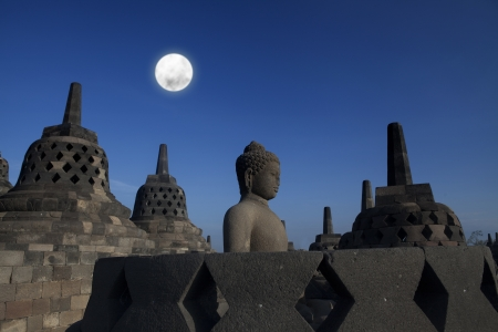 Shot of statue and stupa at borobudur temple, Yogyakarta, Java, Indonesia. Stock Photo - 15301707