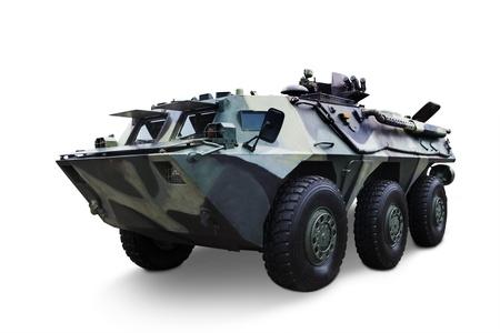 batallon: Disparo de tanque del ej�rcito aislado en el fondo blanco Editorial
