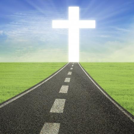 Bright Cross aan het einde van de weg