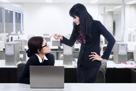 disagreement: Businesswoman and employment issues