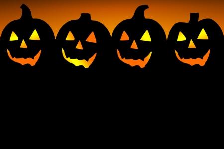 dynia: Wzór tła dla zaproszenie na imprezę Halloween
