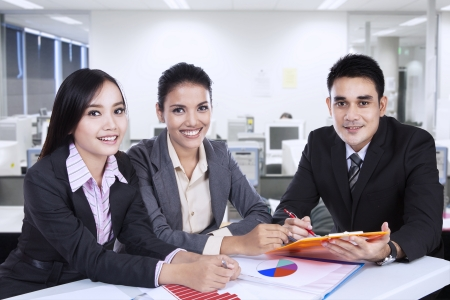 malaysian people: Asian business team at a meeting in office Stock Photo