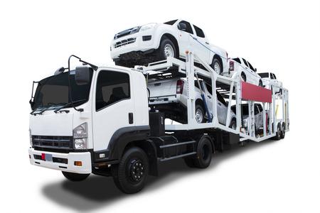 큰 배달 트럭