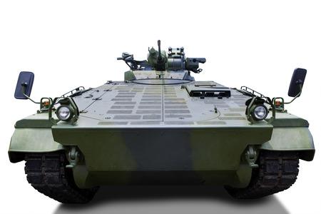 tanque de guerra: Tanque del ejército Vintage aislado sobre fondo blanco Foto de archivo