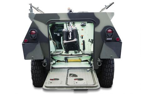 batallón: Interior de camiones militares del vintage