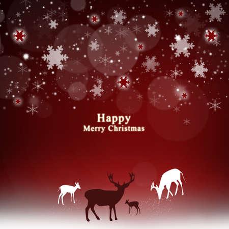 Christmas deer with snowflakes photo