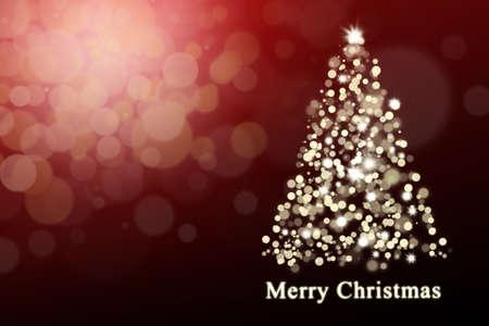 greeting: Christmas background: Shiny christmas tree Stock Photo