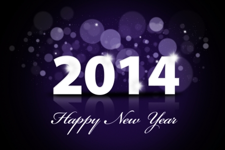 Happy new year 2014 greeting card template  photo
