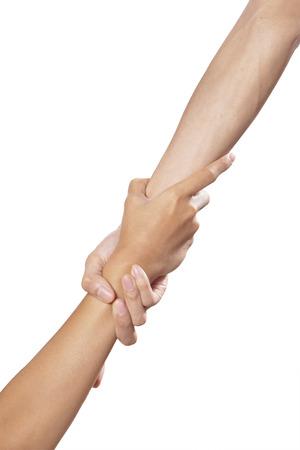 Helfende Hände isoliert auf weißem Hintergrund Standard-Bild - 25727372