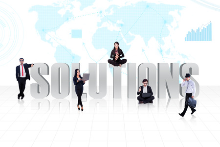 Business global solutions people Stock Photo - 26544824