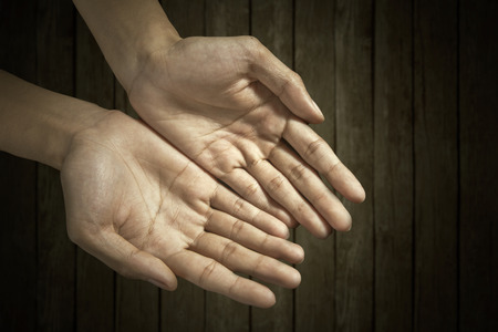 Close up of cupped hands for showing something Stock Photo - 27719039