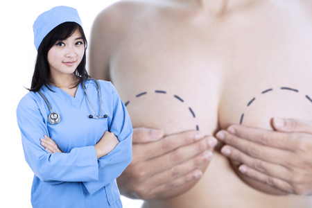 Attractive specialist breast cancer doctor photo