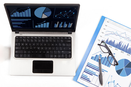 high performance: Business finance, tax, accounting, statistics and analytic research concept