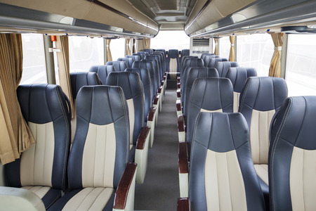 Luxury seats of modern bus for tourism transportation