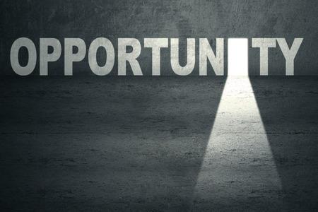 abriendo puerta: Puerta de oportunidad abierta con la luz brillante