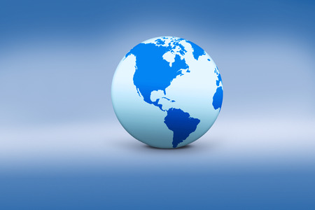 realist: Image of the earth globe with blue background