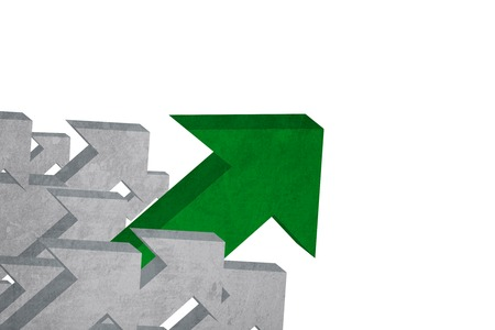 upward: Image of upward arrow sign with green color. Business growth concept