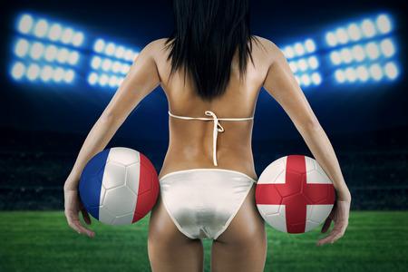 England flag bikini hips and ass